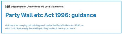 Guidance for carrying out building work under the Party Wall etc Act 1996