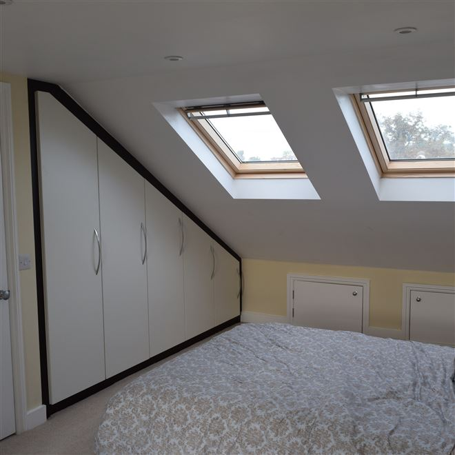 Bespoke  loft conversion storage fitted in Wimbledon SW19