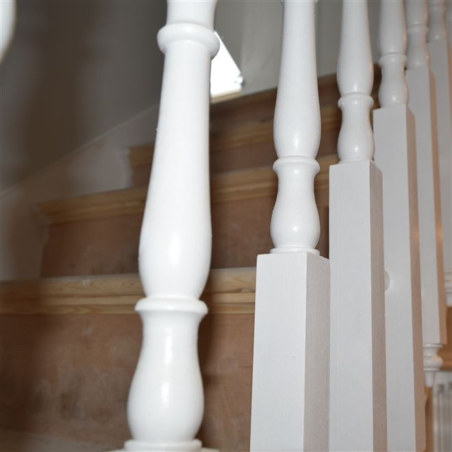 Carved and Matched Spindles for Conversion in Shepherds Bush - W12 9AQ
