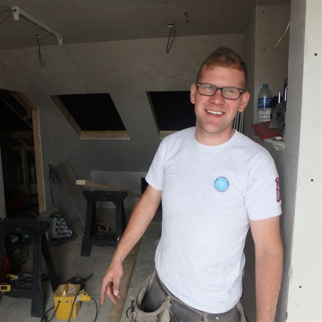 Daniel in our mansard loft conversion in Earlsfield SW18 Ash Island Lofts