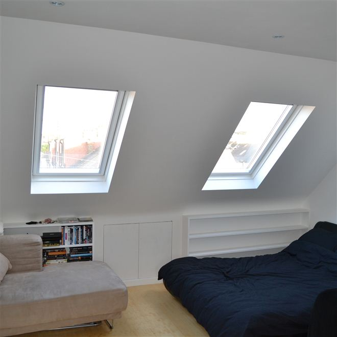 Loft Conversion in Wimbledon Brisbane Ave with Velux Windows