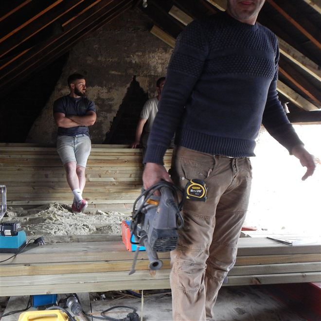 Loft conversion Chiswick underway