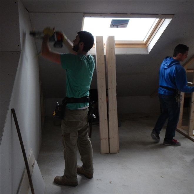 Hayden and Dylan from Ash Island Lofts in L Shaped dormer conversion in Ealing West London.