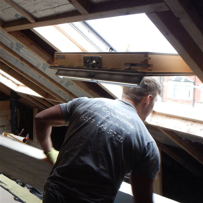 Velux window in N22 Wood Green loft conversion