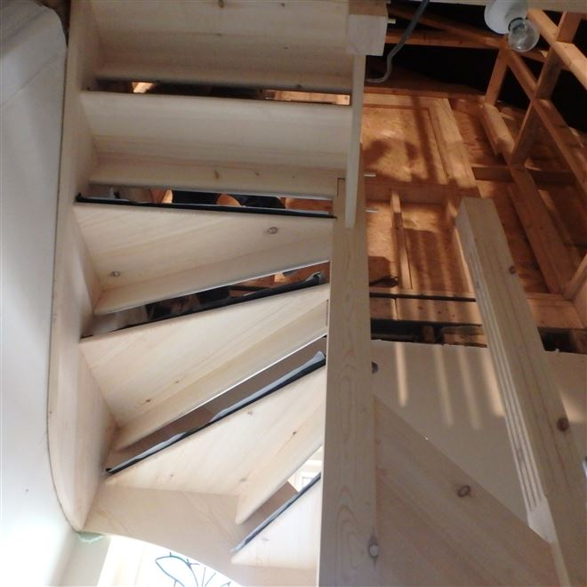 Open riser staircase for loft conversion in Twickenham TW1