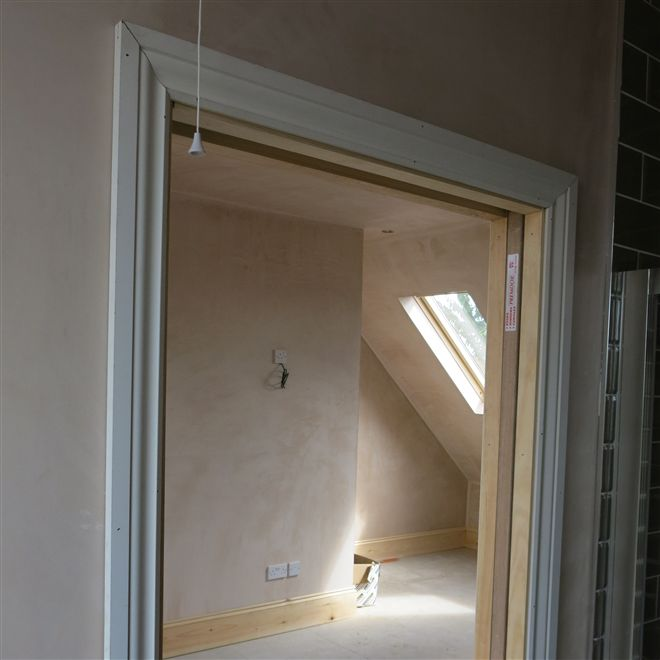 Pocket sliding door at the Acton W3 loft conversion