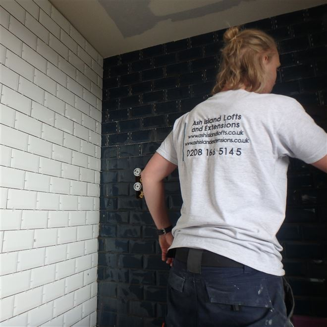 Tiling a Nice Combo for this Loft Conversion in East Dulwich SE22