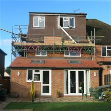 Hip to gable loft conversion into two bedrooms and one bathrom.