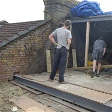 Nathan, Dylan and Hayden at our new loft conversion project in Ealing