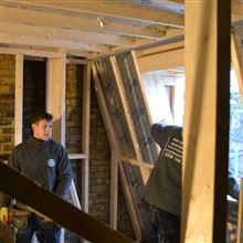 Stud work in Loft Conversion in Shepherds Bush W12 - Billy from Ash Island Lofts
