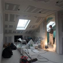 Tape & joint in Clapham in Loft Conversion Ash Island Lofts