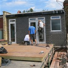 Tiling the Acton loft conversion dormer