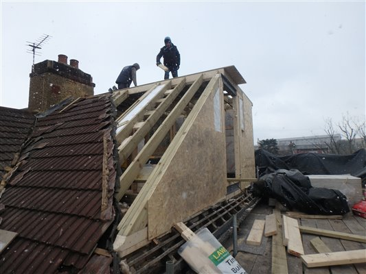 Loft Conversions Transforming From A Hip Roof To A Gable In Colliers Wood Sw19