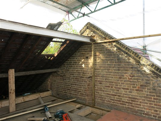 Hanwell W7 dormer loft conversion underway