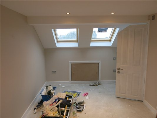 Loft conversion in Acton W3 nears completion