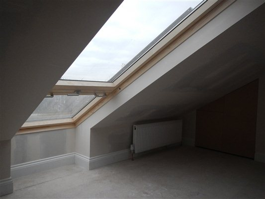 Velux cabrio balcony window at this loft conversion in N22