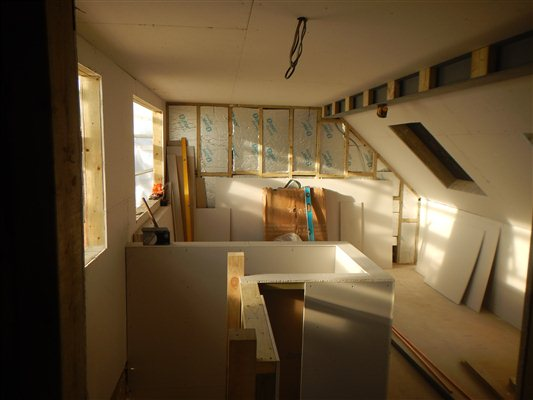 Plasterboarding at Isleworth TW7