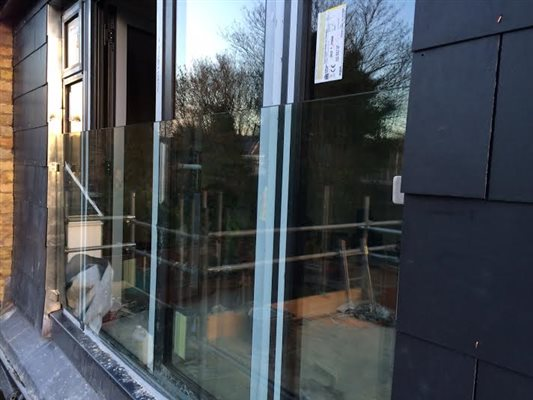 Glass balcony installed in Isleworth TW7