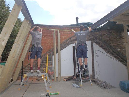 Loft Conversions Another Mansard Loft Extension Underway In Fulham Sw6