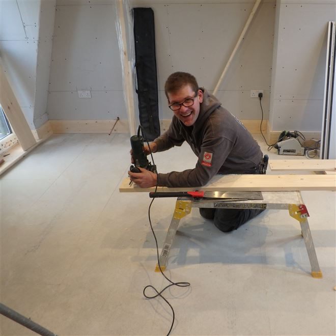 Daniel of Ash Island Lofts second fixing in Tooting SW17
