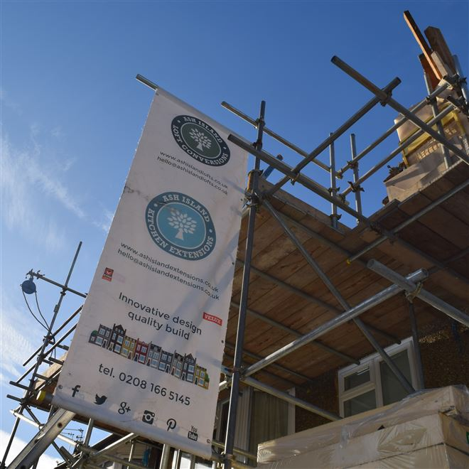 Keep an eye out for our Ash Island Banner in West London!