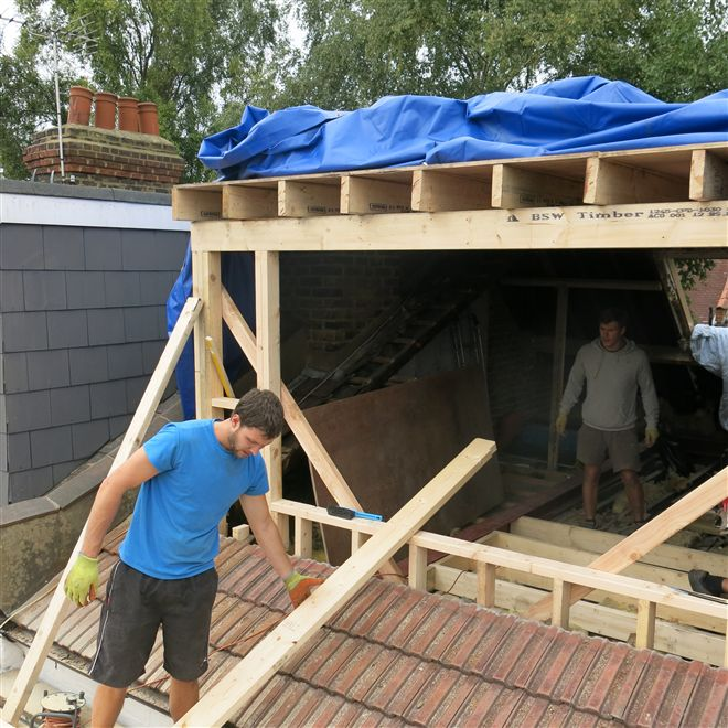 Dylan and Billy here building the dormer at the recent loft conversion in Chiswick, W4.
