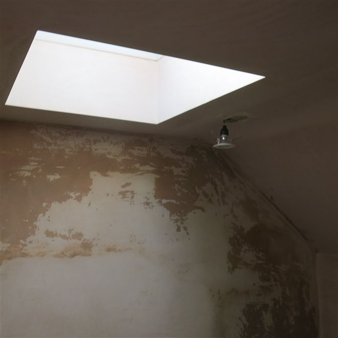 Roof dome over the stairwell at this loft conversion in Chiswick Riverside.