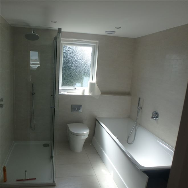 Loft Conversion luxury bathroom in Ealing W5 by Ash Island Lofts