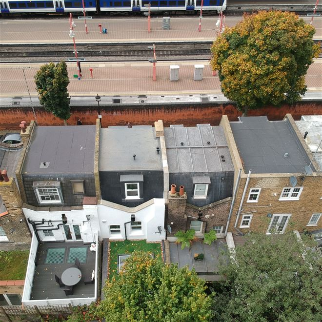 Marylebone NW1 mansard roof extension from the air