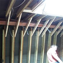 Ceiling collars and ridge steel