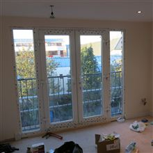 French doors in bedroom area in Richmond 2.4m wide