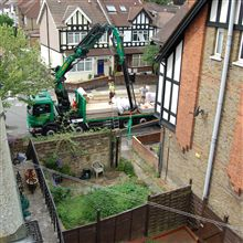 The reach on the Lawson loft lifter crane made things simple on at the Acton loft conversion.