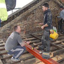 Anthony and James setting out the floor level