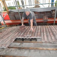Anthony stripping the roof at this loft conversion in Shepherds Bush