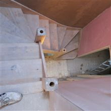 Here are some stairs fitted during a loft conversion in Chiswick - it was in about week 3 of a 5 week project.