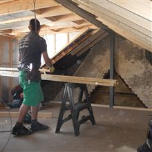 Hayden doing internal studwork in the dormer in W4
