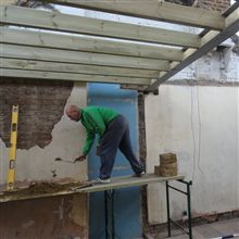 Loft conversion Chiwick Paul bricking in the steels
