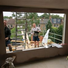 Anthony P and Darren from Ash Island Lofts doing the roofing works.