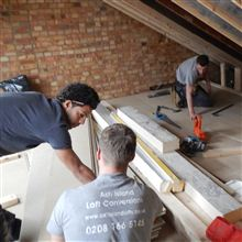 Chris, Billy and Nathan in this loft conversion in N22