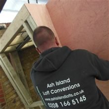 Anthony building the marsard windows in Chiswick.