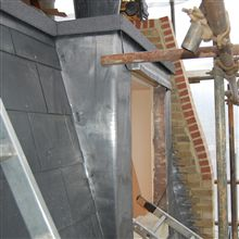 Mansard window lead welding in Chiswick loft conversion