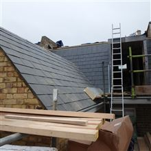 Real slate roof Wandsworth Common mansard loft conversion Ash Island Lofts