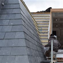 Real slate roofing in Southfields SW18